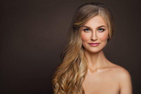 Mature Woman Beauty Blonde Long Hair