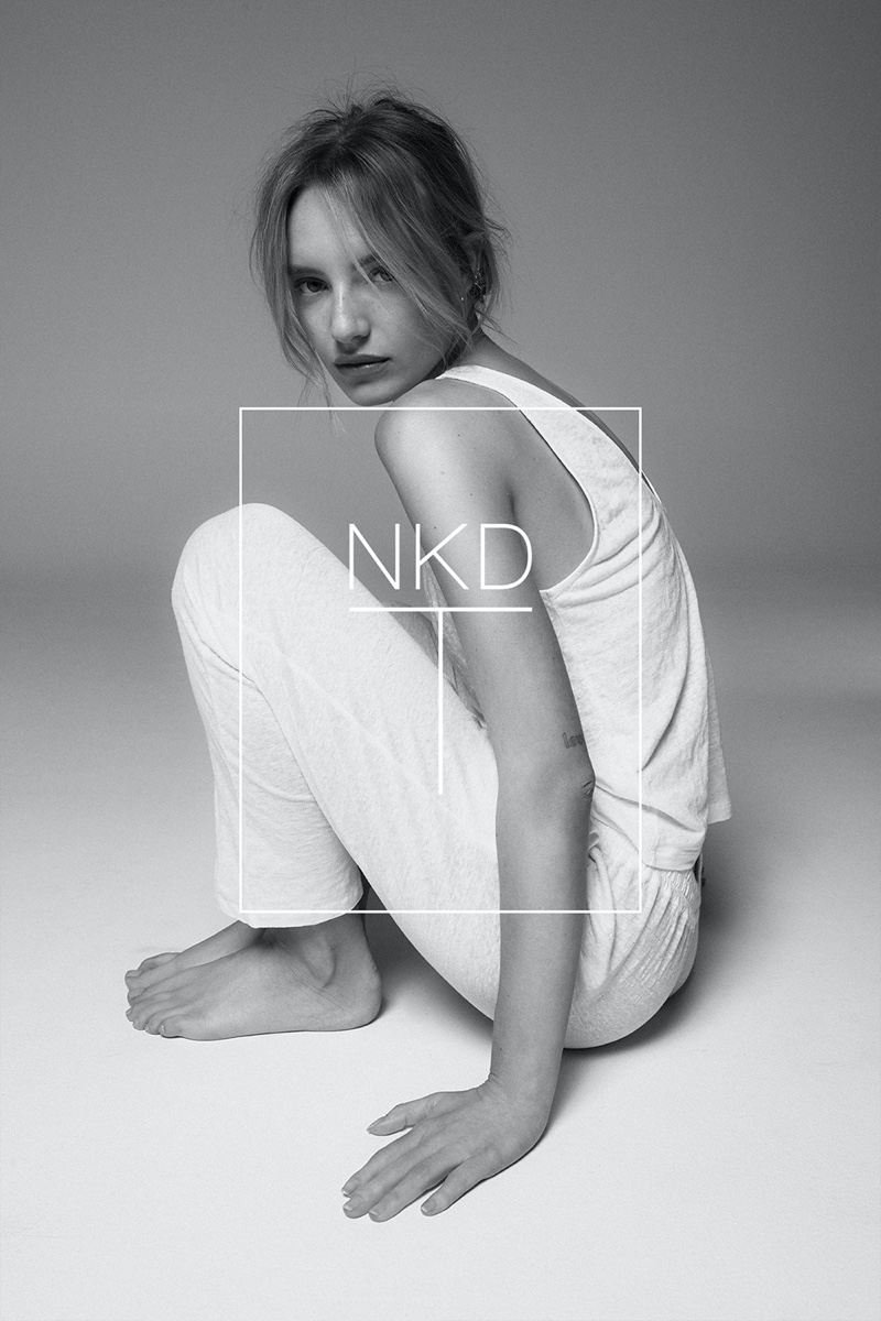 Maya Stepper for NKD-T by NAKED Cashmere campaign. Photo: Bryce Thompson