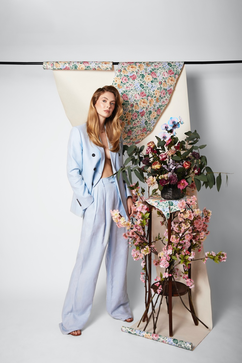 Megan Williams Embraces Romantic Florals for Grazia Bulgaria