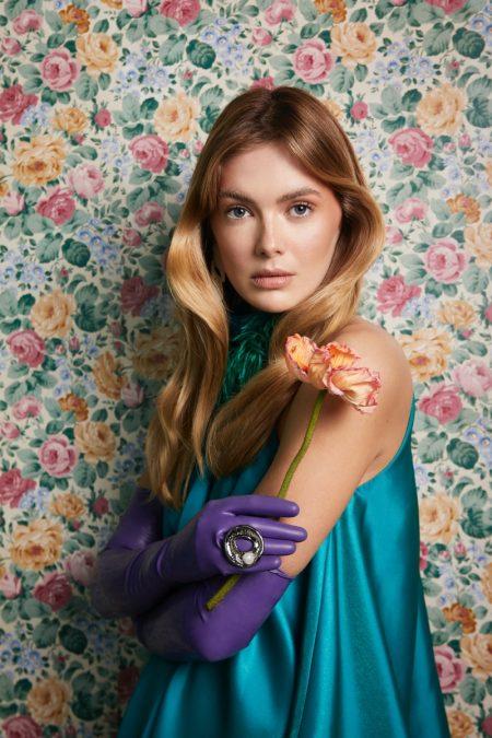 Megan Williams Embraces Romantic Florals for Grazia Bulgaria