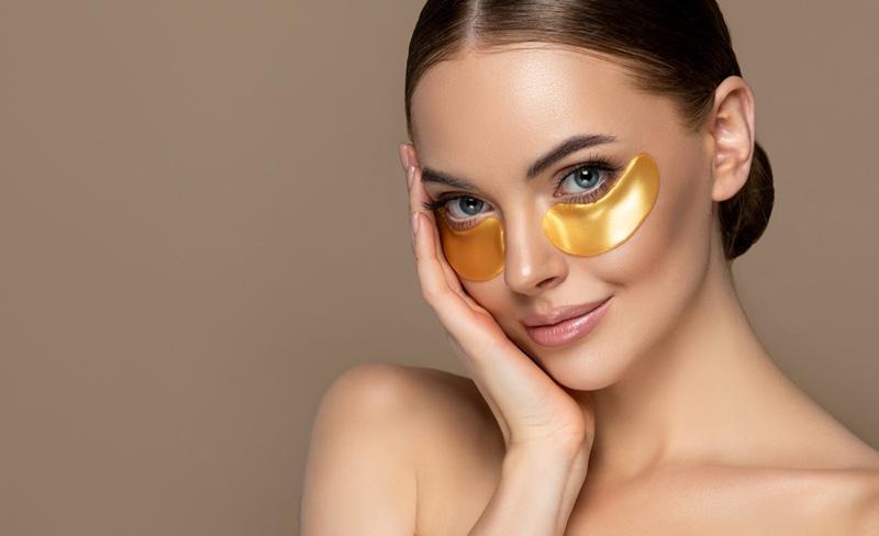 Model Beauty Gold Eye Patches Mask Beauty Skincare