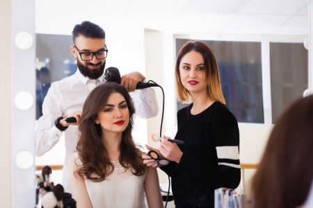 Model Hairstylist Makeup Artist Salon