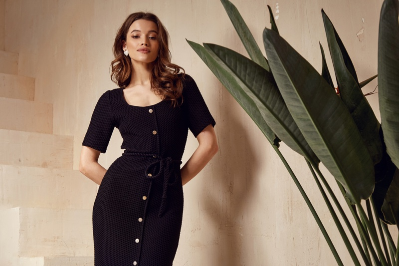 Model Little Black Dress Stylish Elegant