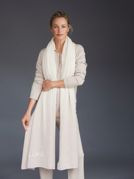 Carolyn Murphy stars in Naked Cashmere LOVE campaign.