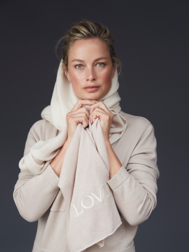 Model Carolyn Murphy appears in Naked Cashmere LOVE campaign.