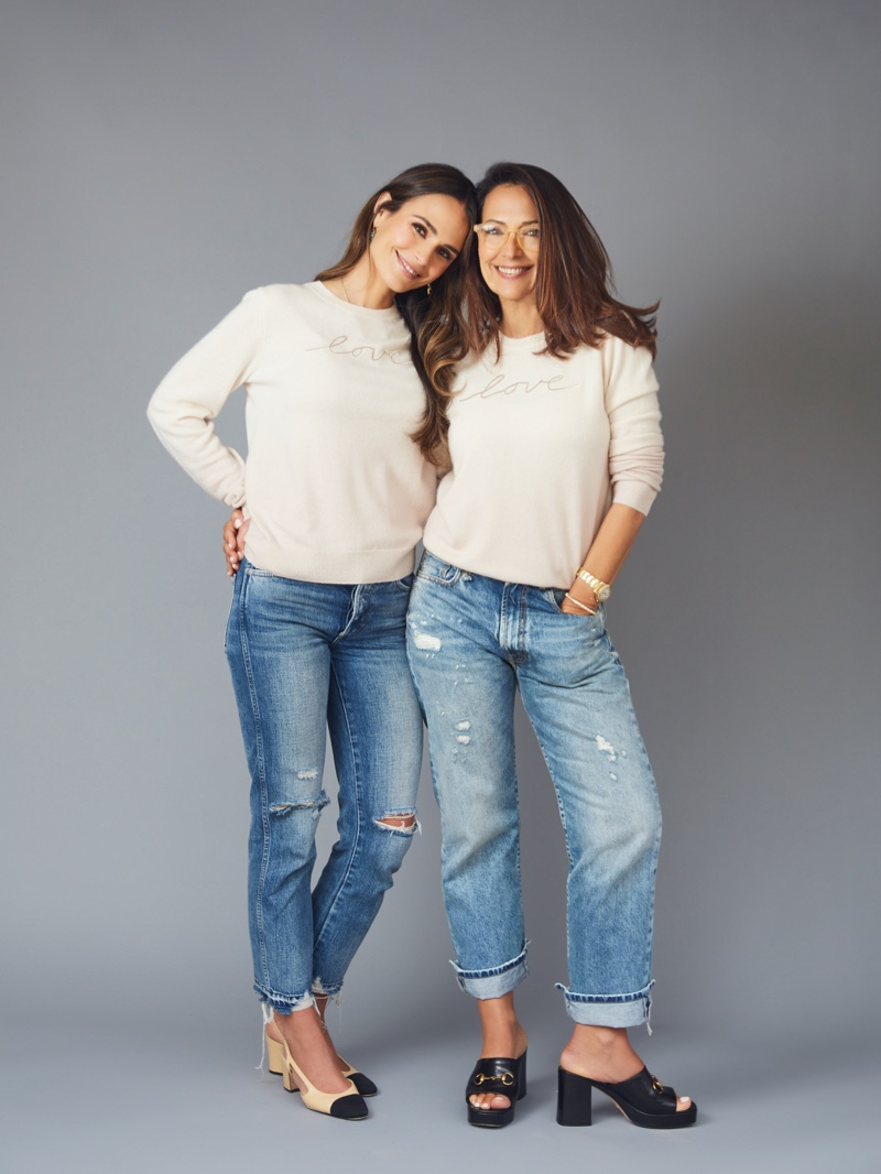 Jordana Brewster and mother Maria João star in Naked Cashmere LOVE campaign.