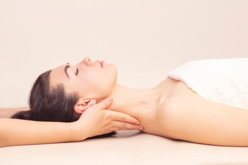 Neck Massage Treatment Woman