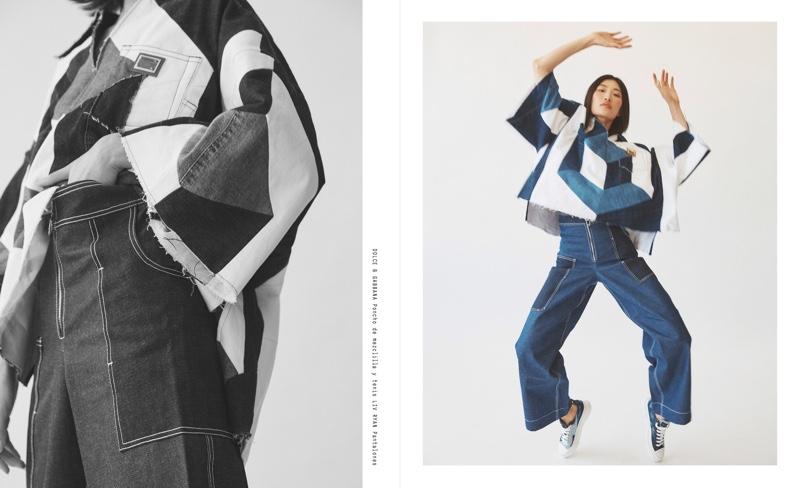 Nuri Son Shows Off Denim Styles for M Milenio Magazine