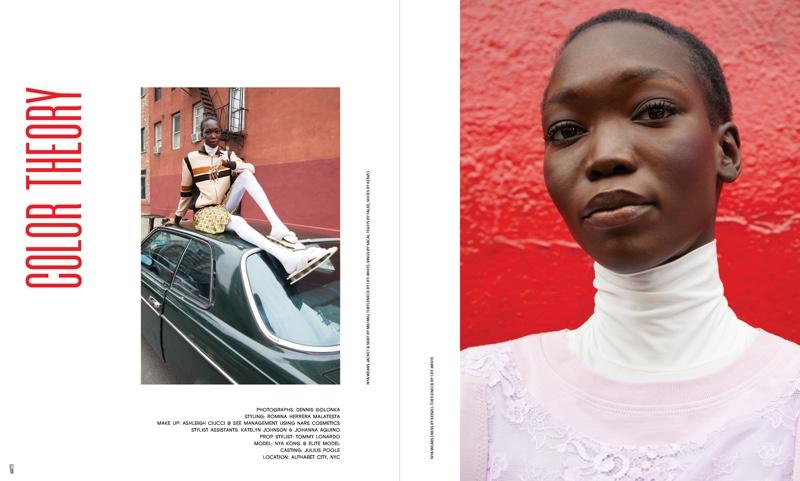 Nya Kong Poses in Vibrant Looks for Ubikwist Magazine