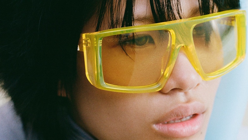 An image from Off-White's summer 2021 eyewear campaign.