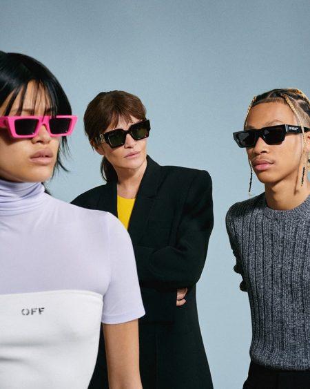 Off-White eyewear summer 2021 campaign.