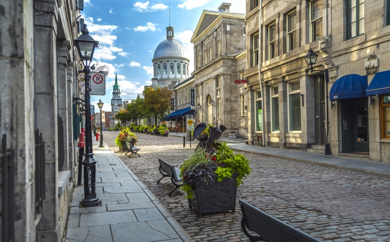 Old Montreal Canada Cobbled Streets