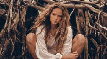 Olivia Vinten Models Outdoor Fashion for Vogue Russia Travel