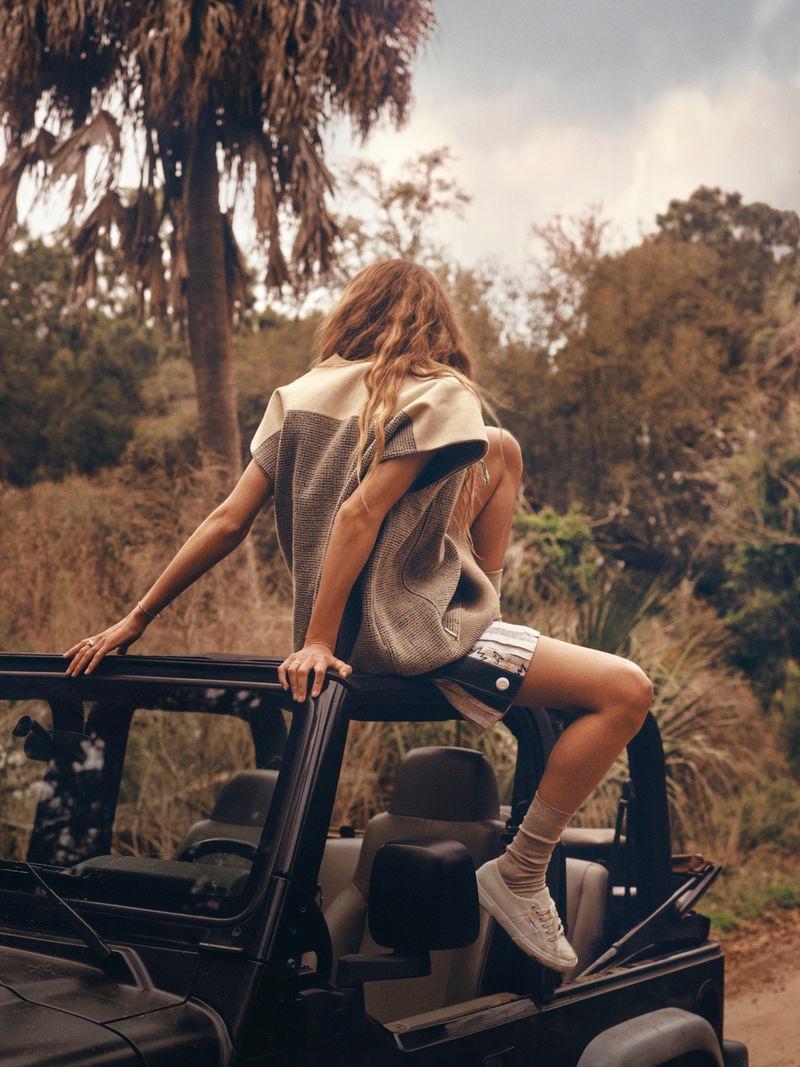 Olivia Vinten Models Outdoor Fashion for Vogue Russia Travel
