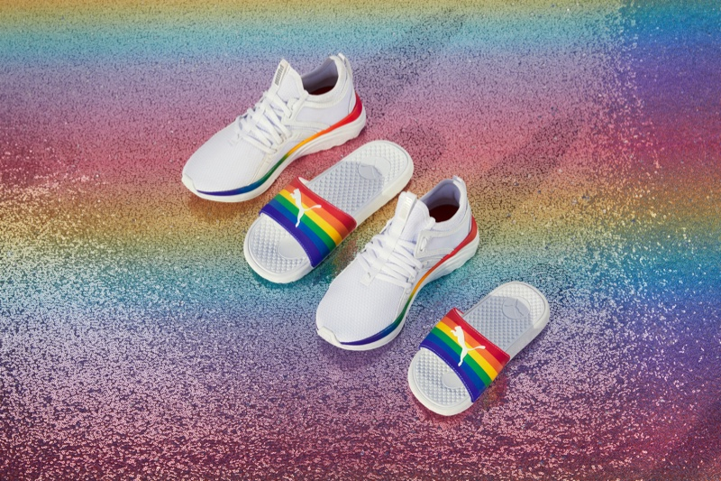 Shoe designs from PUMA's Forever Free Pride Collection.