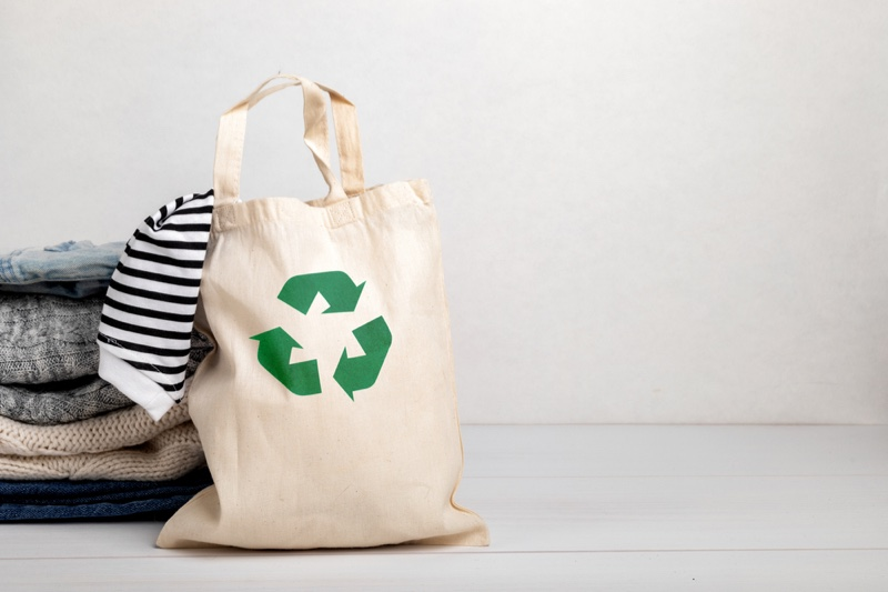 Recycle Bag Eco Clothing Concept