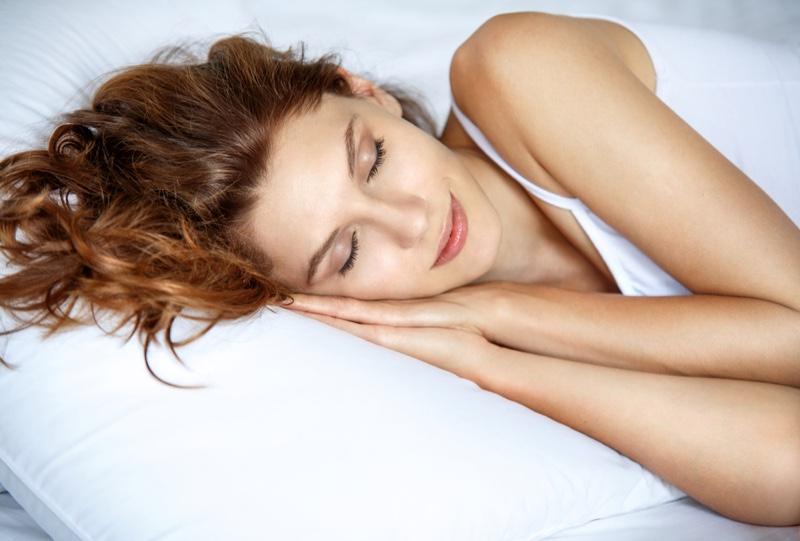 Redhead Model Sleeping Beauty Pillow