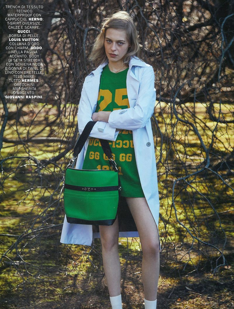 Sarah Saxinger Models Whimsical Outfits for Marie Claire Italy