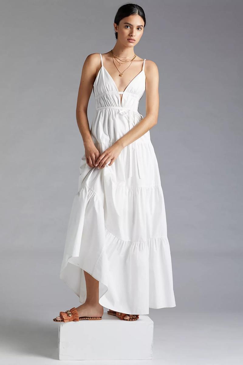 Sau Lee Tiered Maxi Dress $350