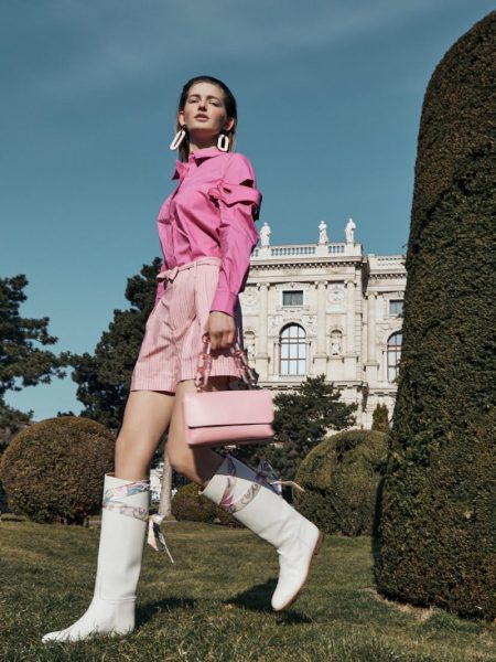 Simona Godal Poses in Colorful Fashions for Vogue Ukraine