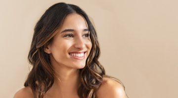 Smiling Woman Healthy Skin Natural