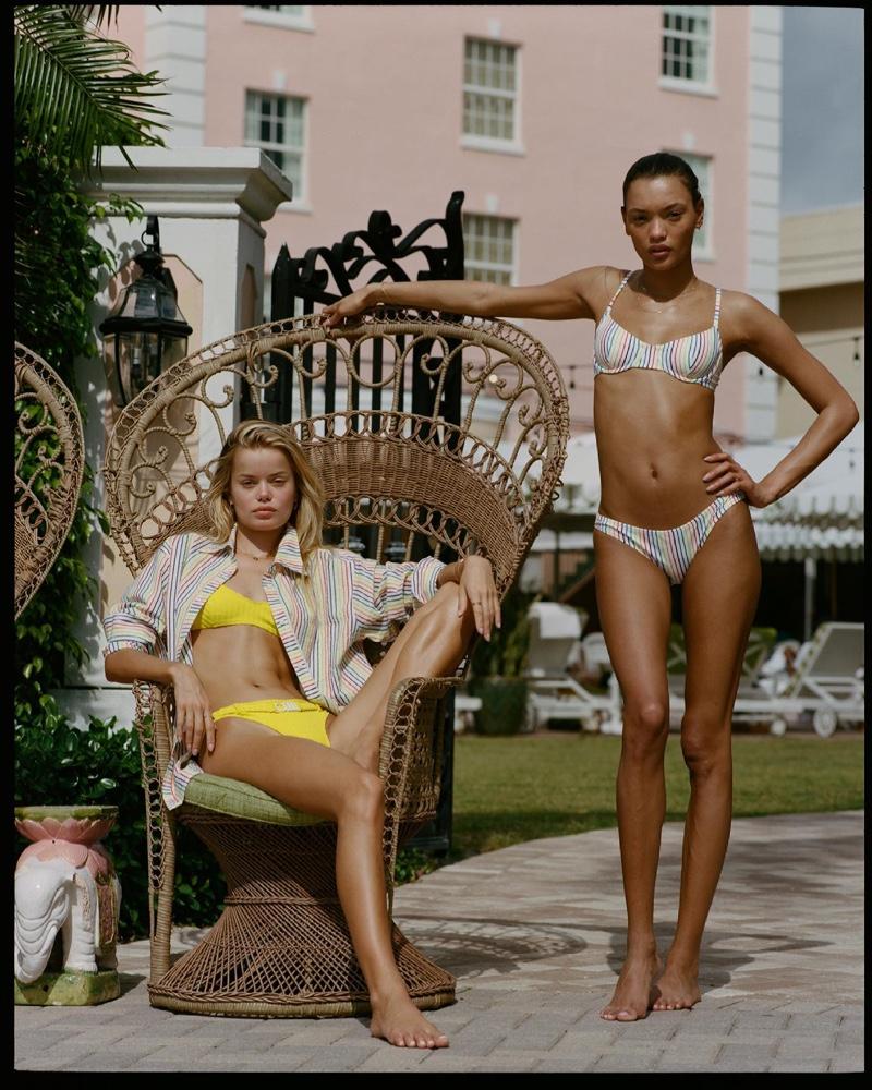 Frida Aasen and Lameka Fox model Solid & Striped summer 2021 swimwear collection.