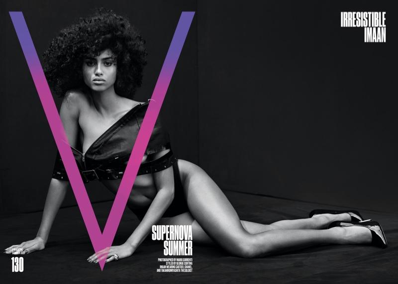 Imaan Hammam on V Magazine #130 Summer 2021 Cover.