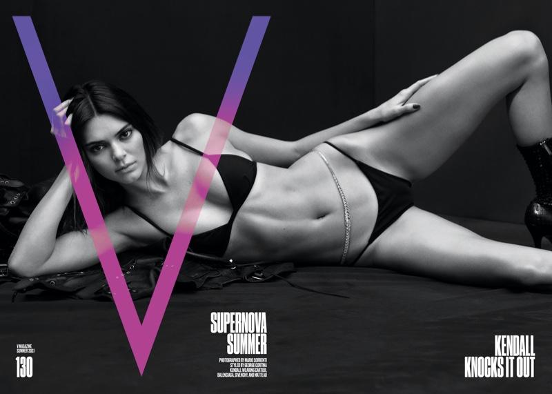 Kendall Jenner on V Magazine #130 Summer 2021 Cover.