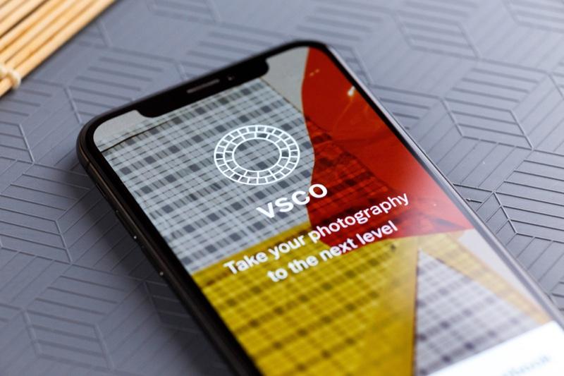 VSCO App Phone Screen