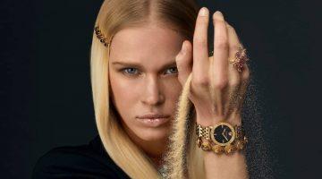 Versace Watches features Greca glass watch in spring-summer 2021 campaign.