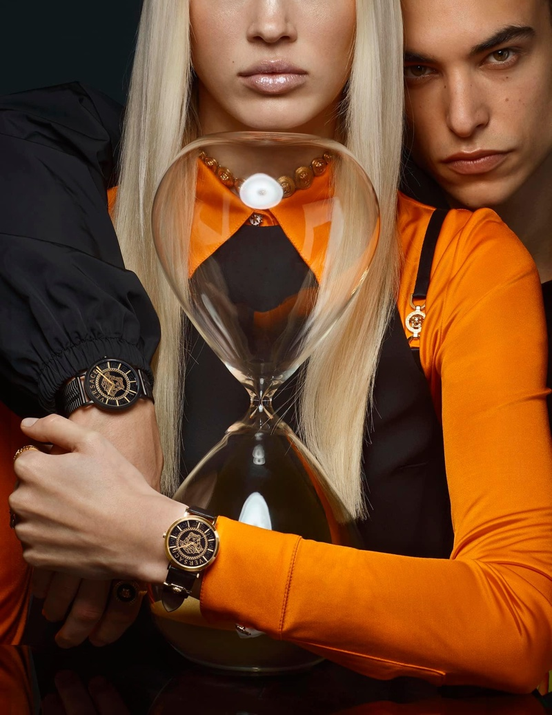 An image from Versace Watches' spring 2021 advertising campaign.
