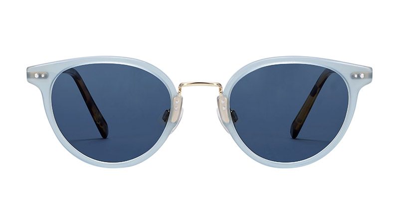 Warby Parker Elina Sunglasses in Blue Agave with Polished Gold $145