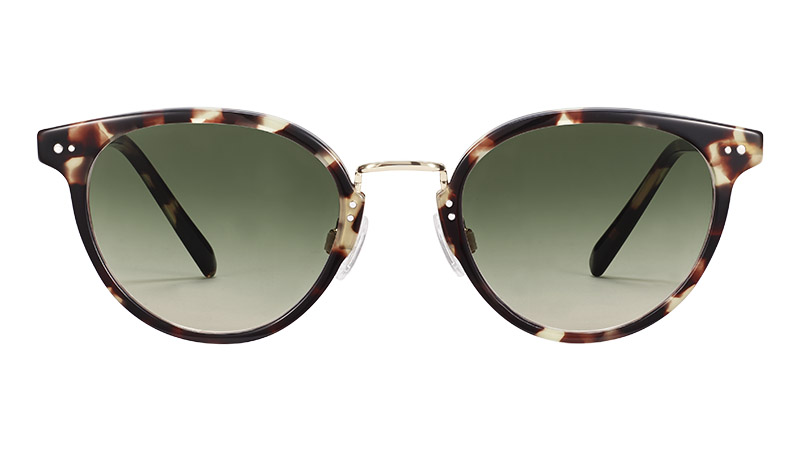 Warby Parker Elina Sunglasses in Truffle Tortoise with Polished Gold $145