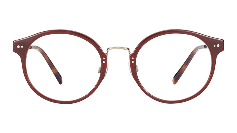 Warby Parker Jayla Glasses in Russet Red with Riesling $145