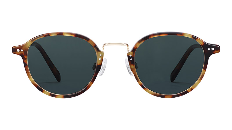 Warby Parker Thorpe Sunglasses in Acorn Tortoise with Riesling $145