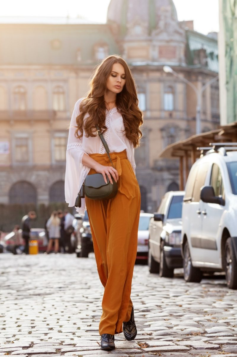 Woman in Chic Look