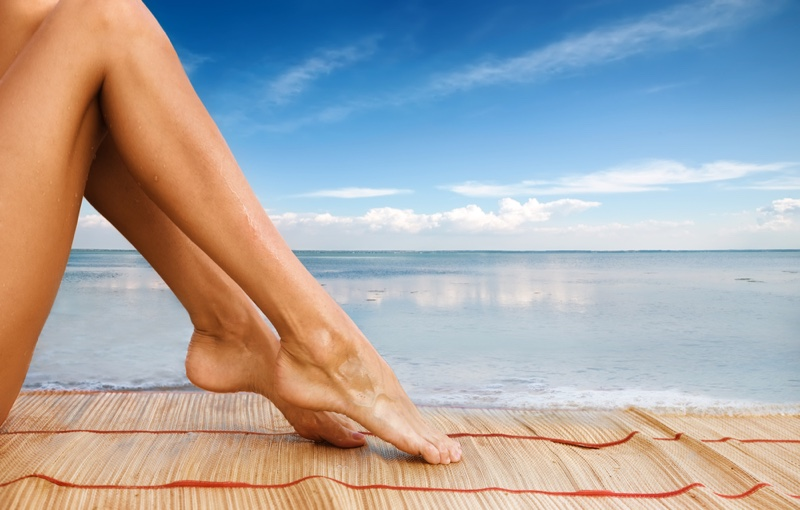 Woman's Smooth Legs Towel