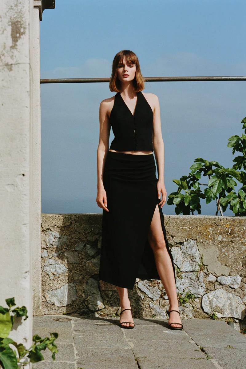 Aylah Peterson stars in Zara La Dolce Vita style guide.
