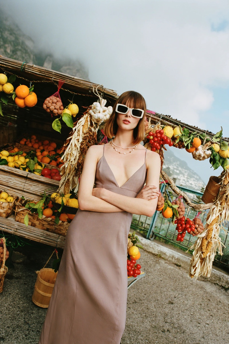 Zara Linen Blend Dress.