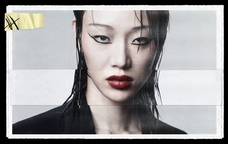 Sora Choi poses for Zara Beauty On the Line campaign.