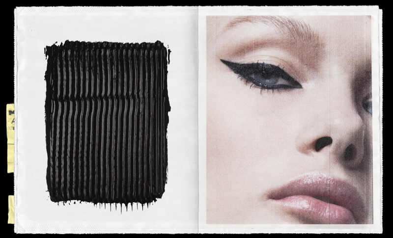Kristina Grikaite poses for Zara Beauty campaign.