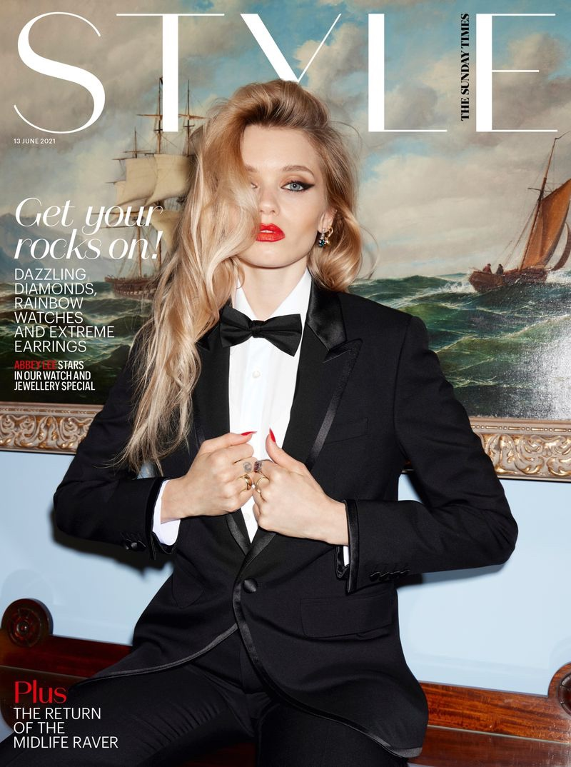 Abbey Lee Kershaw Turns Up the Glam Factor for Sunday Times Style