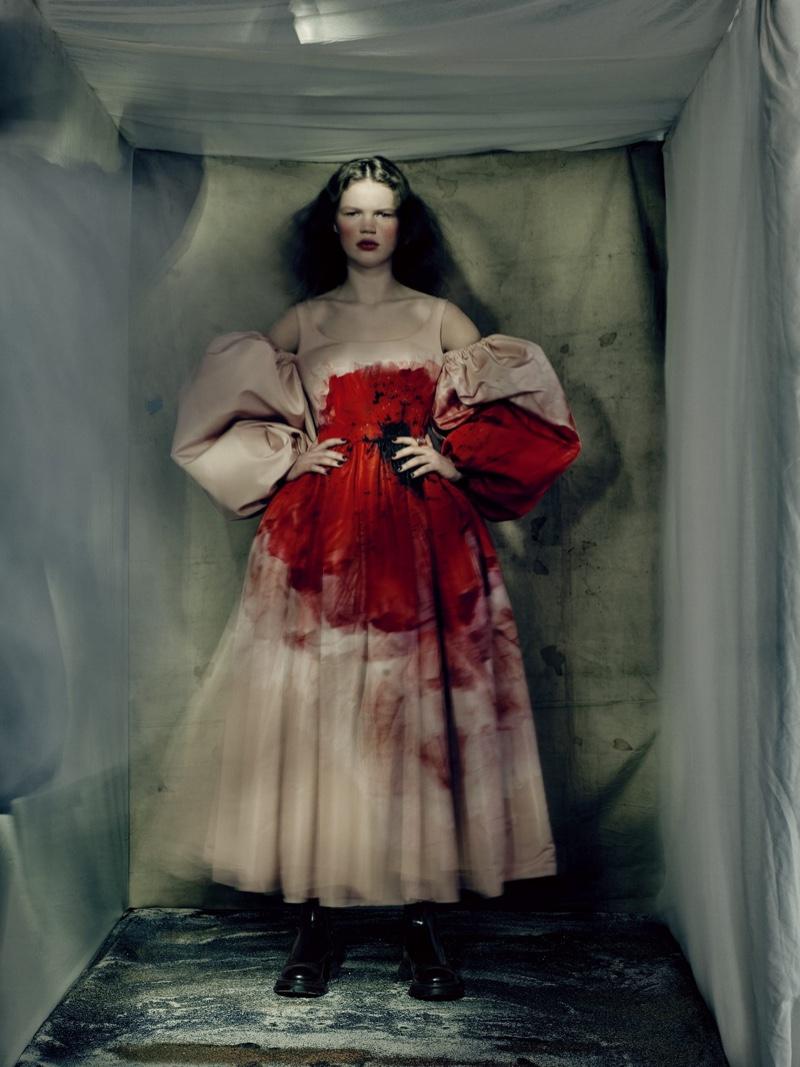 Alexander McQueen fall-winter 2021 campaign.