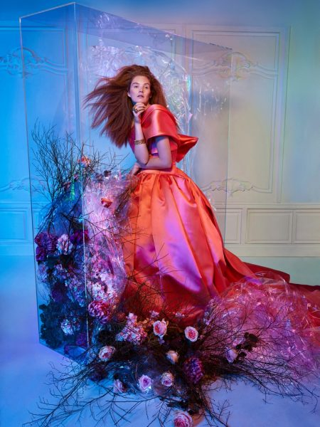 Alexina Graham Wows in Haute Couture Designs for Harper's Bazaar Serbia