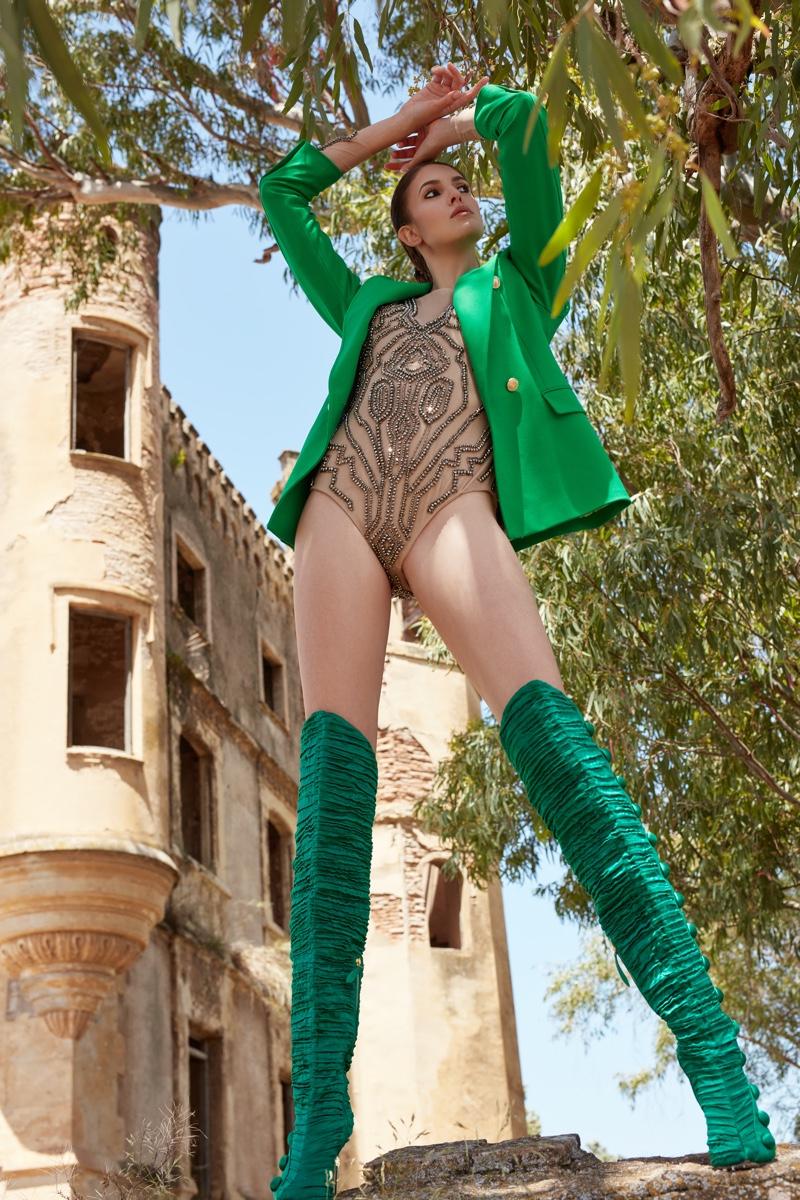 Ana Nunez Models Chic Looks for L'Officiel Lithuania