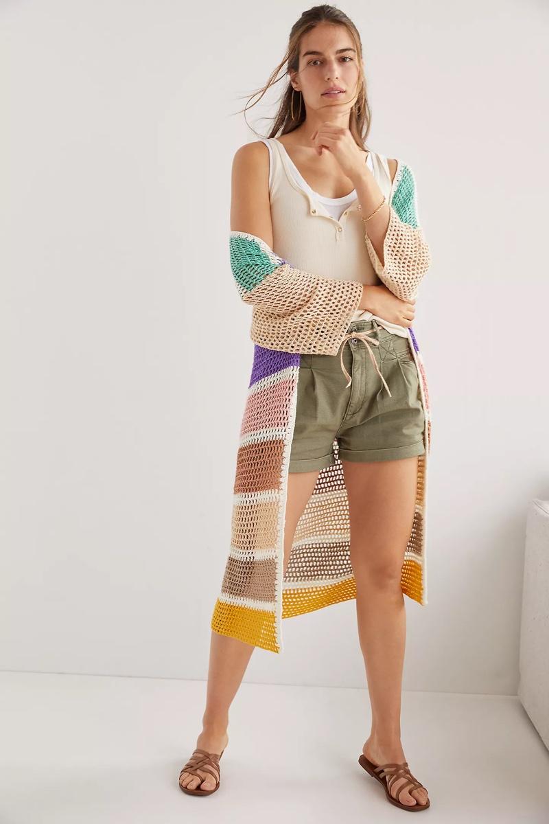 Anthropologie Colorblock Crochet Cardigan $180