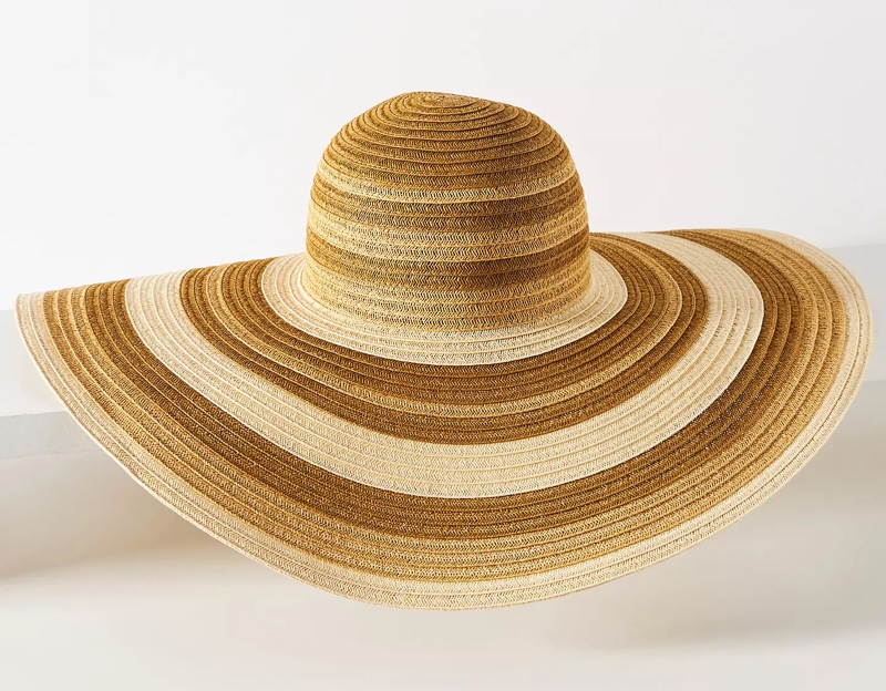 Anthropologie Sand-Striped Sun Hat $60