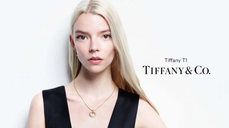 Anya Taylor Joy stars in Tiffany & Co. Tiffany T1 2021 campaign.