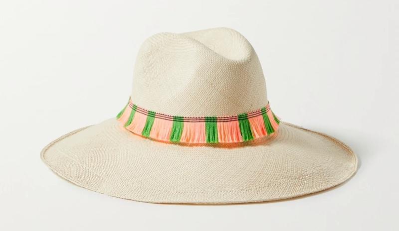 Artesano Portofino Fringed Straw Panama Hat $260