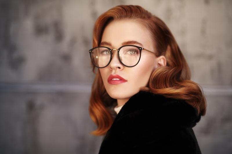 Beauty Redhead Model Eyeglasses